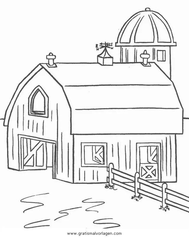 Bauernhaus 3 gratis Malvorlage in Diverse Malvorlagen