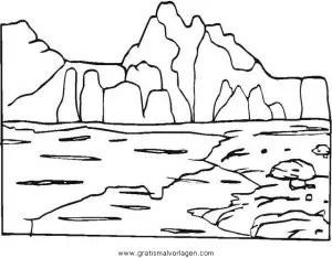 Berg berge bergen 01 gratis Malvorlage in Diverse