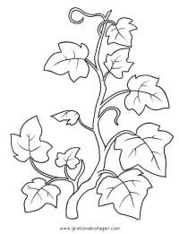 blumenranken gratis Malvorlage in Blumen, Natur - ausmalen
