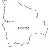 Landkarte Bolivien gratis Malvorlage in Geografie ...