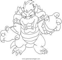 bowser 5 gratis Malvorlage in Comic & Trickfilmfiguren ...
