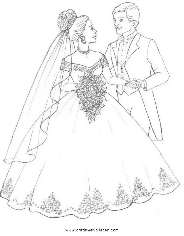 Brautpaar Malvorlagen Gratis Coloring and Malvorlagan