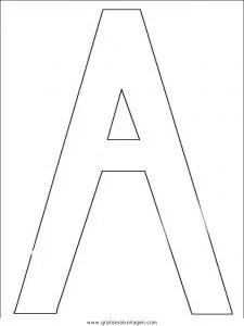 Buchstaben 157 gratis Malvorlage in Alphabet Buchstaben