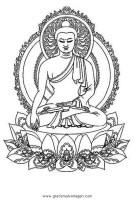 buddha 01 gratis Malvorlage in Buddha, Religionen   ausmalen