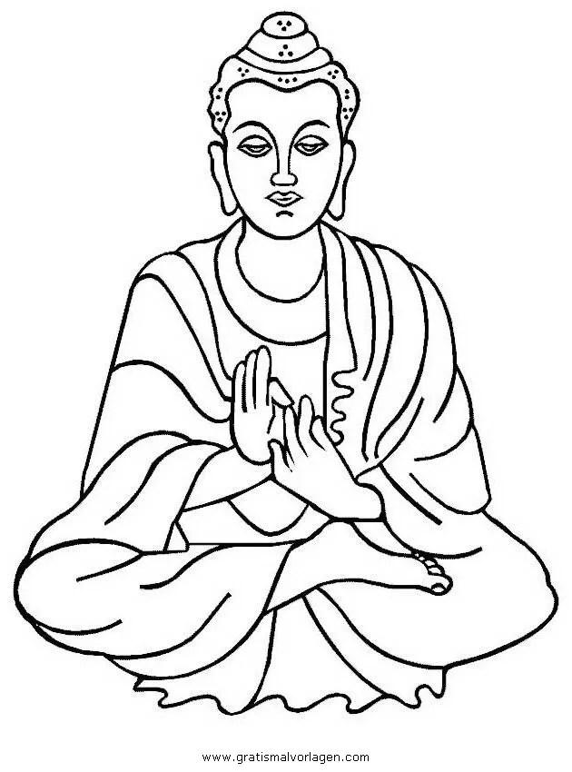 Buddha 03 gratis Malvorlage in Buddha Religionen - ausmalen
