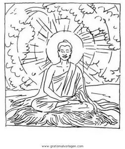 Buddha 06 gratis Malvorlage in Buddha Religionen - ausmalen