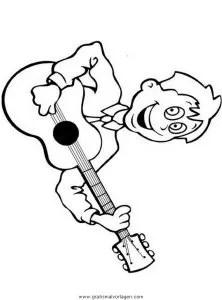 Gitarre 2 gratis Malvorlage in Diverse Malvorlagen Musik