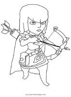 clashofclans archer 001 gratis Malvorlage in Clash of ...