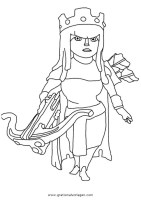 clashofclans archerqueen 001 gratis Malvorlage in Clash of ...