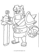 clashofclans barbarian 08 gratis Malvorlage in Clash of ...