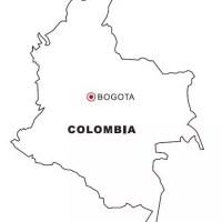 Landkarte Kolumbien gratis Malvorlage in Geografie ...