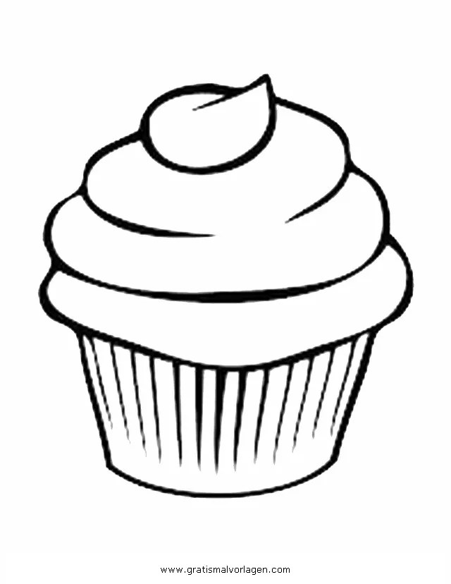 Cupcake 6 gratis Malvorlage in Beliebt11 Diverse