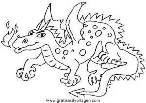 Drachen 028 gratis Malvorlage in Drachen Fantasie - ausmalen