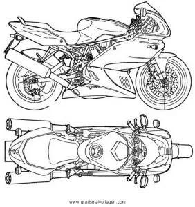Ducati supersport gratis Malvorlage in Motorrad