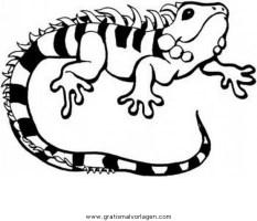 eidechse 9 gratis Malvorlage in Schlangen, Tiere   ausmalen