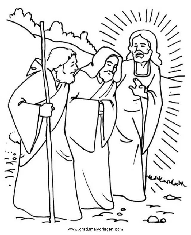 emmaus 4 gratis Malvorlage in Religionen, Religiöse Bilder
