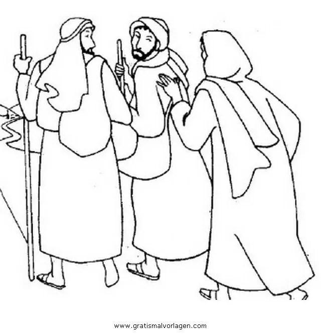 Emmaus 5 Gratis Malvorlage In Religionen Religise Bilder