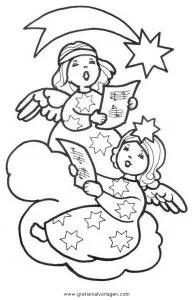 Engel 34 gratis Malvorlage in Engel Weihnachten - ausmalen