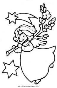 Engel 35 gratis Malvorlage in Engel Weihnachten - ausmalen