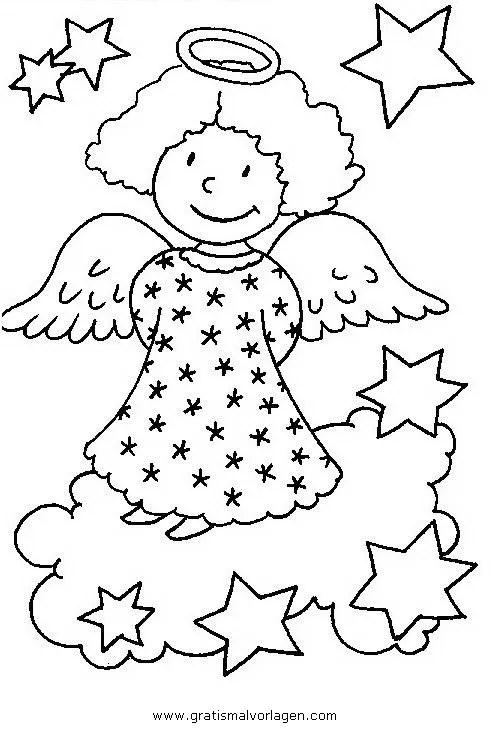 Engel 45 gratis Malvorlage in Engel Weihnachten - ausmalen