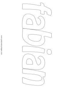 Fabian 01 gratis Malvorlage in Diverse Malvorlagen Namen