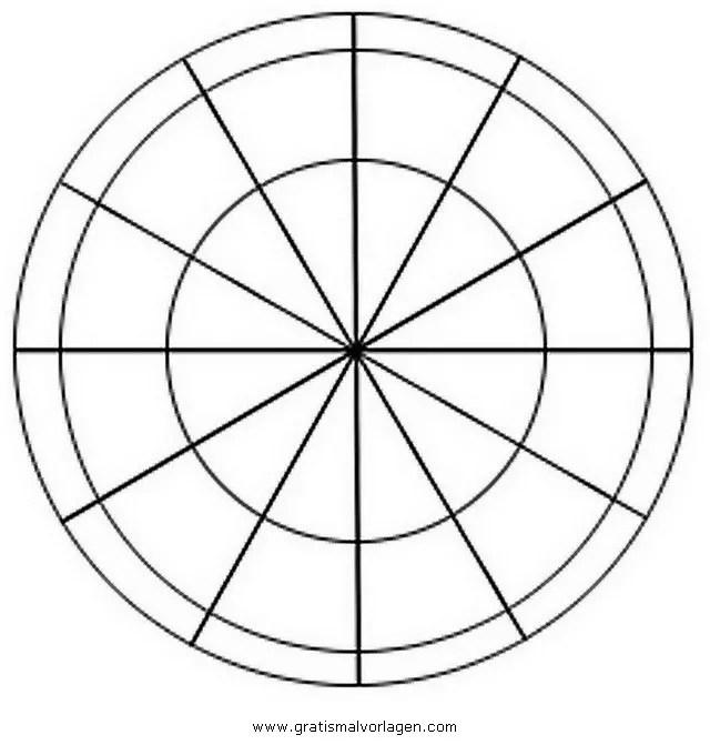 farbkreis 0 gratis Malvorlage in Geometrische Formen