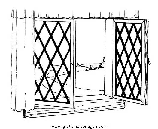 Fenster 1 gratis Malvorlage in Beliebt Diverse