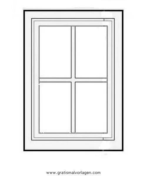 Fenster 4 gratis Malvorlage in Beliebt Diverse