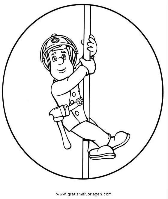 Feuerwehrmann sam 04 gratis Malvorlage in Comic