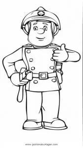 Feuerwehrmann sam 05 gratis Malvorlage in Comic