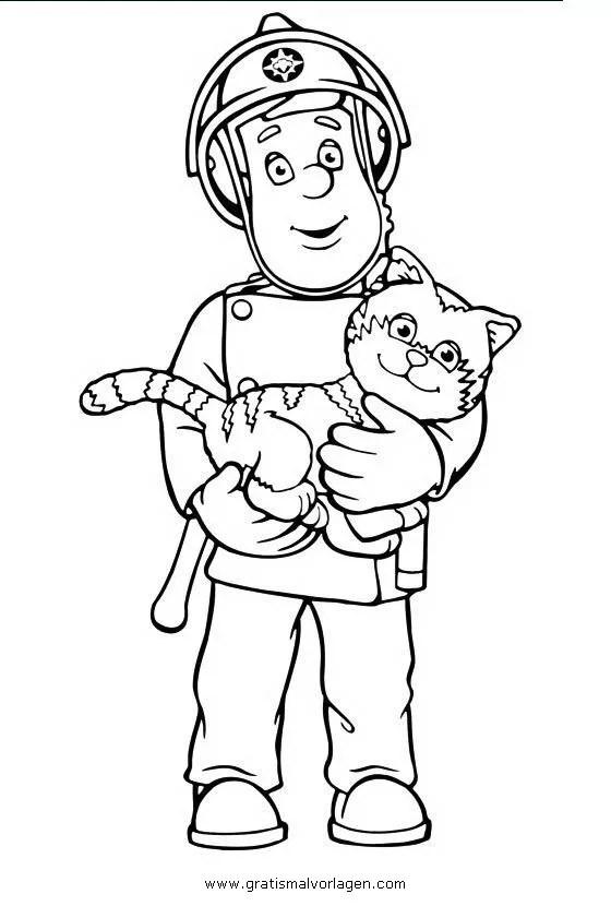 Feuerwehrmann sam 06 gratis Malvorlage in Comic