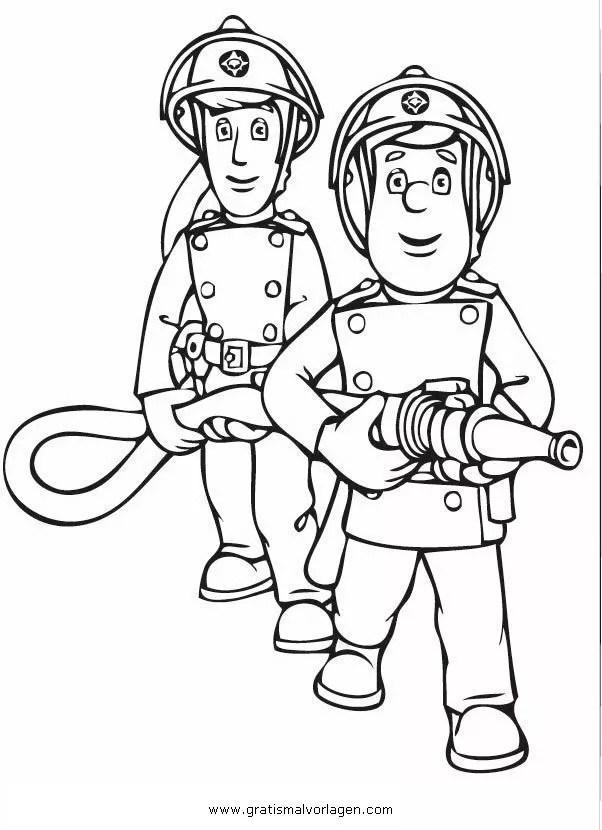 Feuerwehrmann sam 10 gratis Malvorlage in Comic