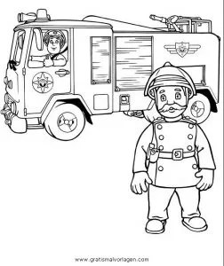 Feuerwehrmann sam 11 gratis Malvorlage in Comic
