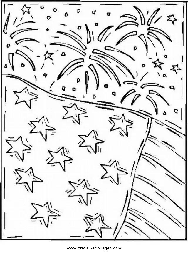 Feuerwerk 14 gratis Malvorlage in Feste Silvester - ausmalen