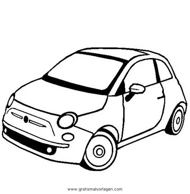 fiat 500 2 gratis Malvorlage in Autos2, Transportmittel