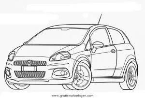 fiat punto abarth gratis Malvorlage in Autos2