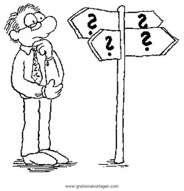 Fragezeichen gratis Malvorlage in Beliebt06 Diverse