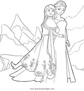 Frozen 02 gratis Malvorlage in Comic & Trickfilmfiguren