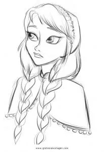 Frozen anna 3 gratis Malvorlage in Comic