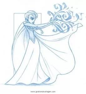Frozen elsa gratis Malvorlage in Comic & Trickfilmfiguren