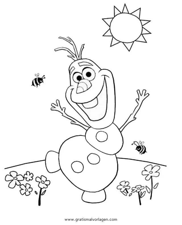 Frozen olaf 35 gratis Malvorlage in Comic