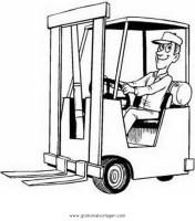 gabelstapler 1 gratis Malvorlage in Baumaschinen ...