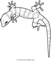 Ausmalbilder Leopard Gecko   Kinder Ausmalbilder