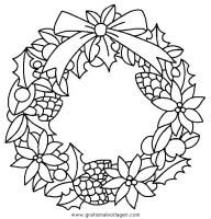 girlanden 20 gratis Malvorlage in Girlanden, Weihnachten ...