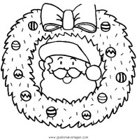 girlanden 27 gratis Malvorlage in Girlanden, Weihnachten ...