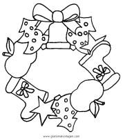 weihnachtliche girlande malvorlagen   Coloring and Malvorlagan