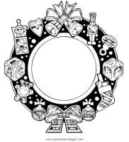 girlanden 46 gratis Malvorlage in Girlanden, Weihnachten ...
