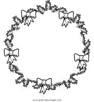 girlanden 54 gratis Malvorlage in Girlanden, Weihnachten ...