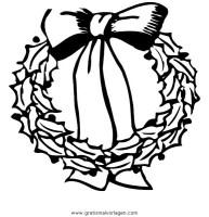 girlanden 63 gratis Malvorlage in Girlanden, Weihnachten ...
