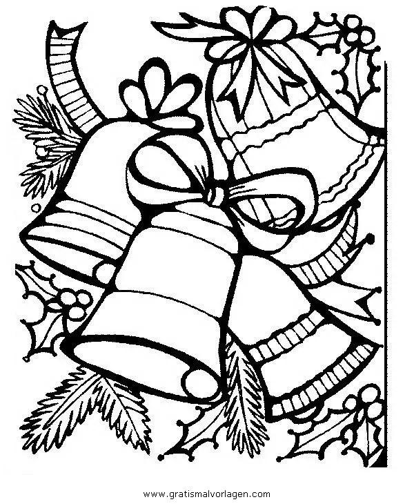 Glocke 42 gratis Malvorlage in Glocke Weihnachten - ausmalen